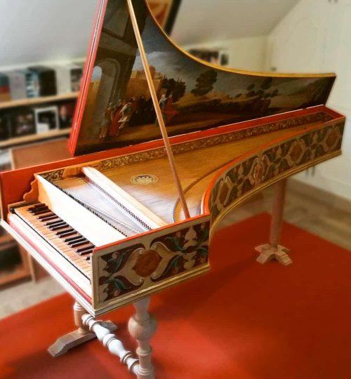 clavecin italienavec caisse peinte par Jean-François Brun